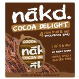 Nakd Cocoa Delight Bars x 4 pack 140g